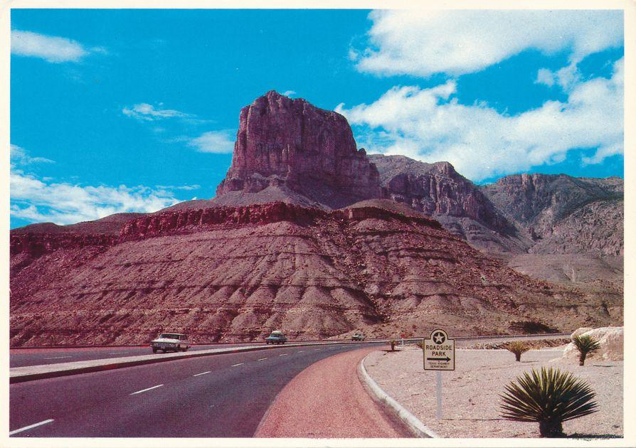El Capitan and Guadalupe Peak Mountains near El Paso, Texas