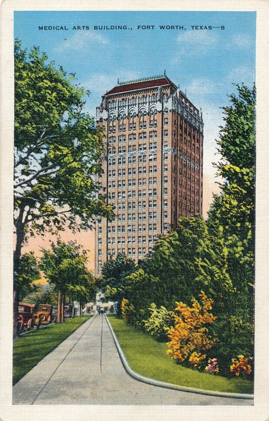 Fort Worth, Texas - Medical Arts Building - Linen Card