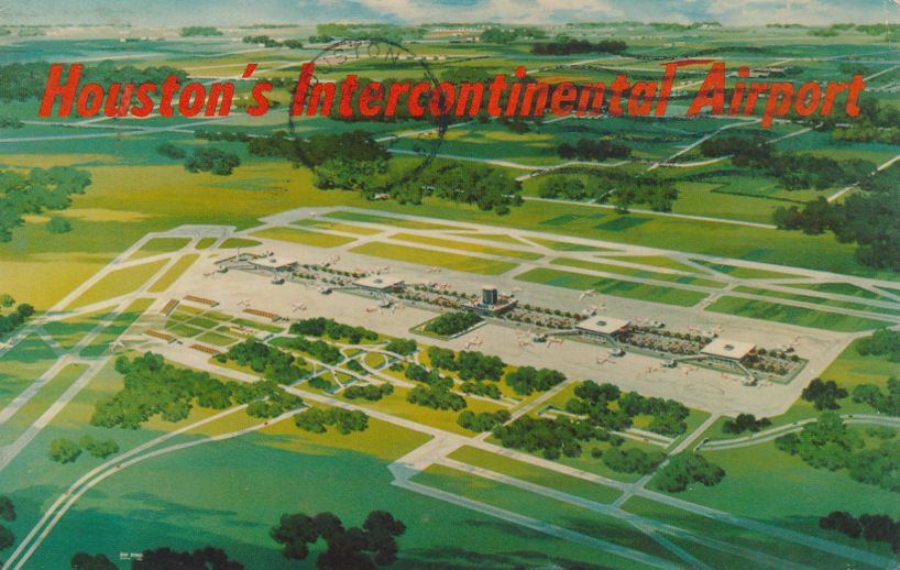 Houston, Texas - Intercontinental Airport - pm 1969