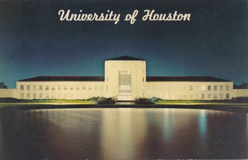 Houston, Texas - University of Houston - Cullen Building and Reflection Pool - pm 1969