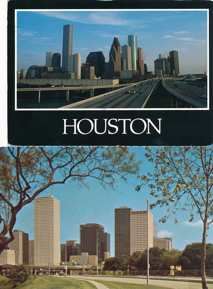 (4 cards) Houston, Texas - City Views and Port of Houston