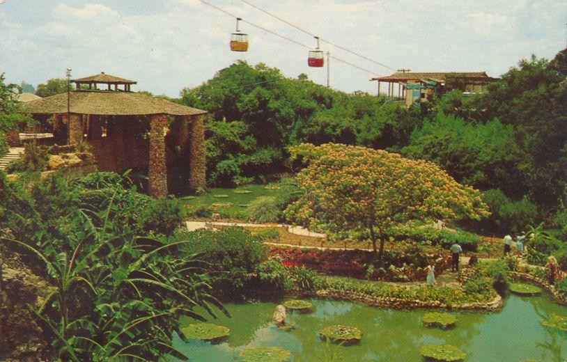 San Antonio, Texas - Sky Ride over Sunken Gardens