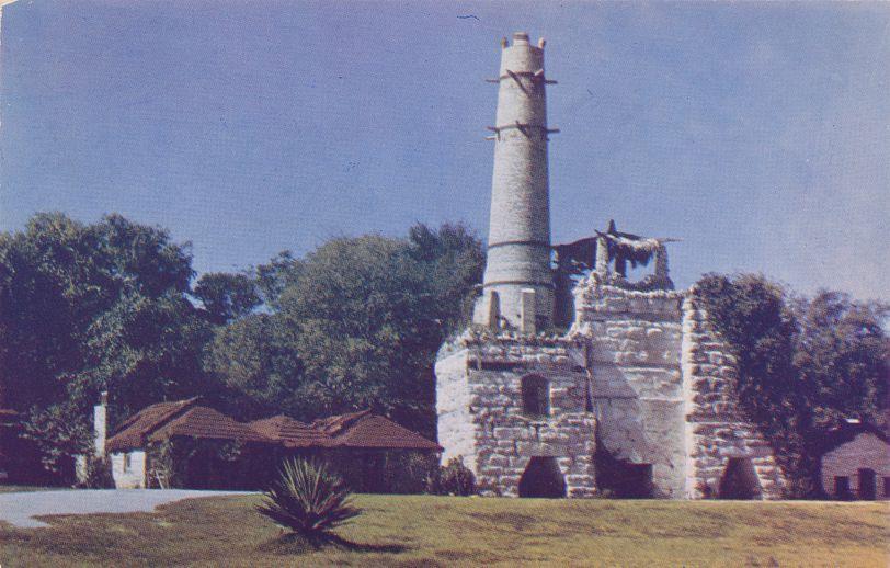 San Antonio, Texas - Portland Cement Factory Tower - Now Chinese Tea Garder