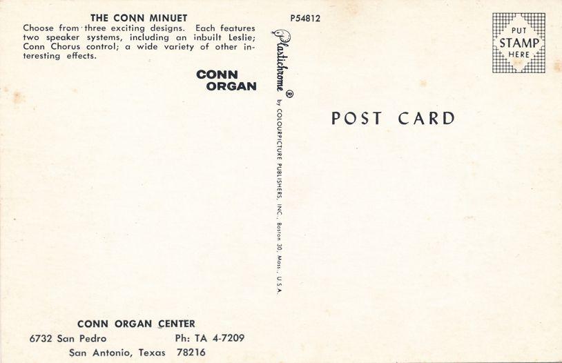 San Antonio, Texas - The Conn Minuet - Conn Organ Center