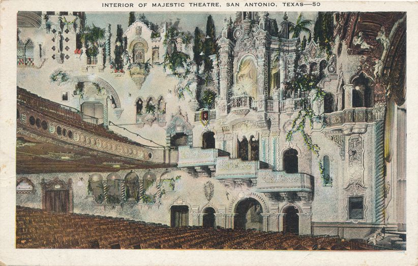 San Antonio, Texas - Interior of the Majestic Theater - pm 1932 - White Border