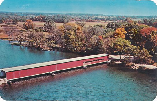 Centerville, Michigan - St Joseph River Covered Bridge
