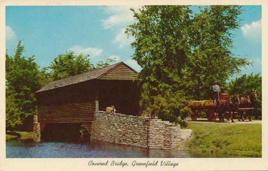 Dearborn, Michigan - Covered Bridge at Greenfield Village