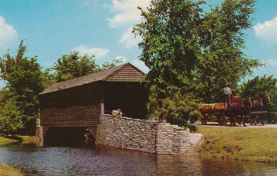 Dearborn, Michigan - Greenfield Village Covered Bridge