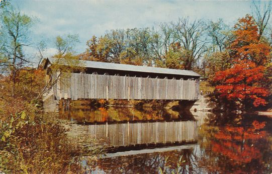 Lowell, Michigan - Covered Bridge in Fallasburg Park