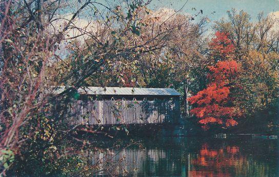 Fallasburg Covered Bridge near Lowell, Michigan