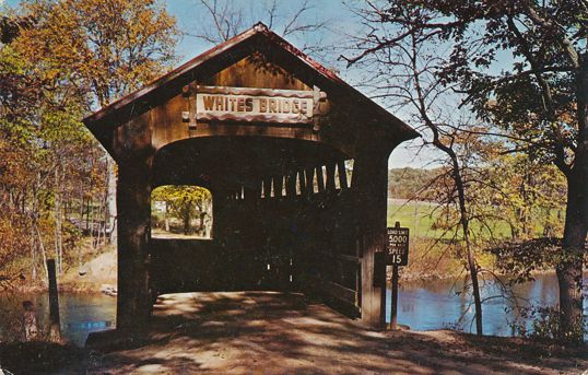 Smyrna, Ionia County, Michigan - White's Covered Bridge over Flat River