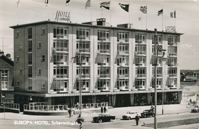 RPPC Europa Hotel - Scheveningen, Netherlands - pm 1967 at Gravenhage - Real Photo