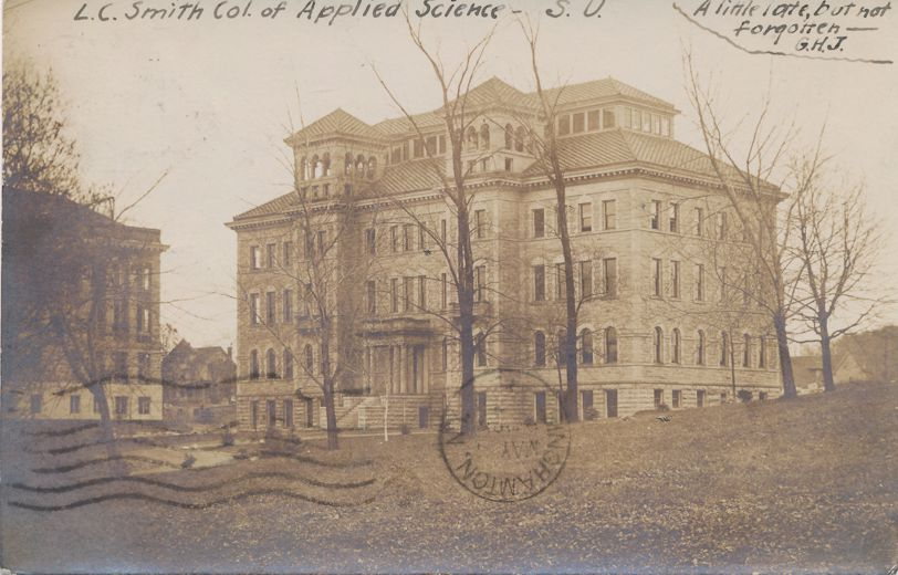 RPPC Syracuse University, New York - Smith College of Applied Science - pm 1907 - Real Photo