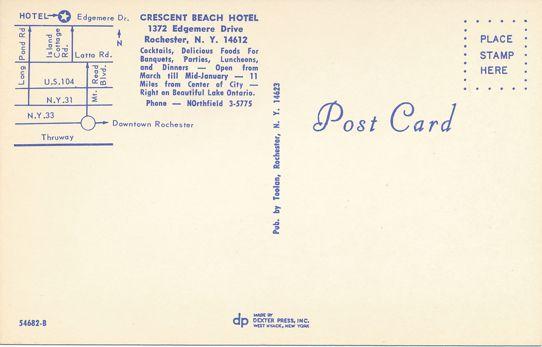 Crescent Beach Hotel, Rochester, New York - Neon Signage