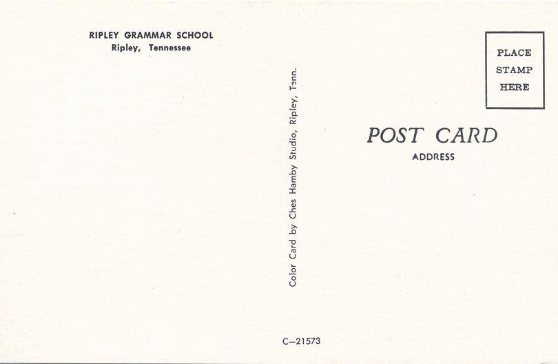Ripley Grammar School - Ripley, Lauderdale County, Tennessee