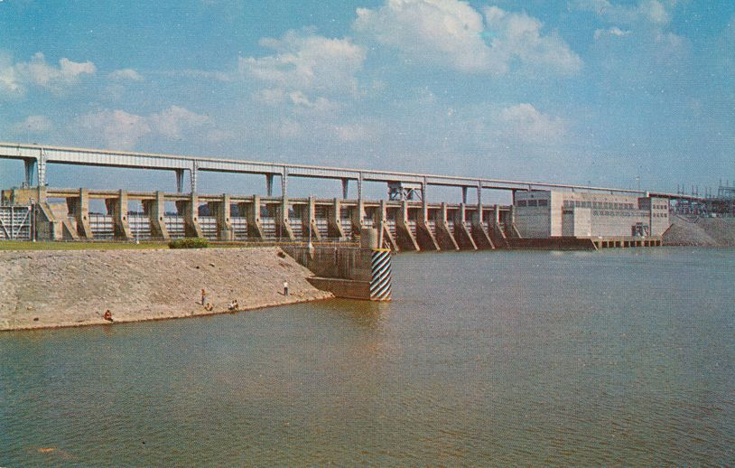 Chattanooga, Tennessee - Chickamauga Dam on the Tennessee River