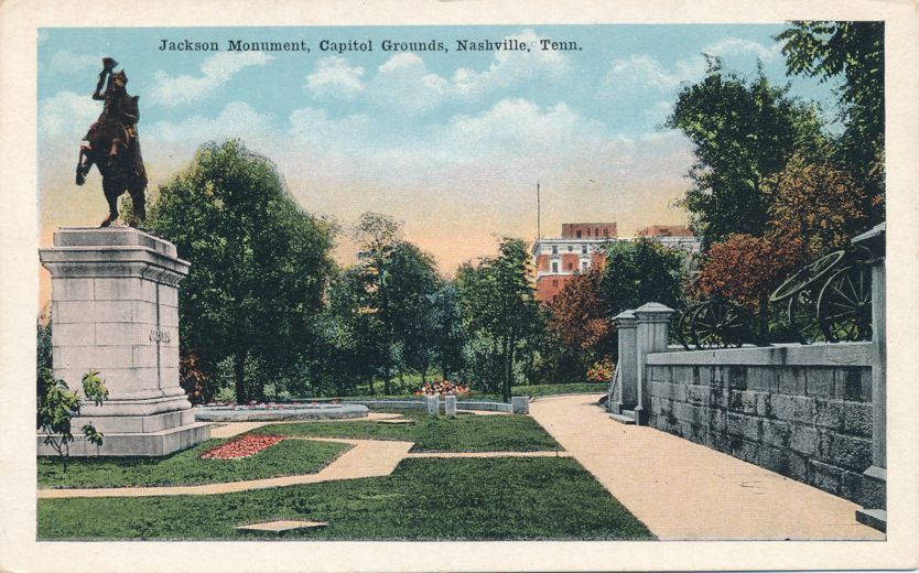 Nashville, Tennessee - Jackson Monument on Captol Grounds - White Border