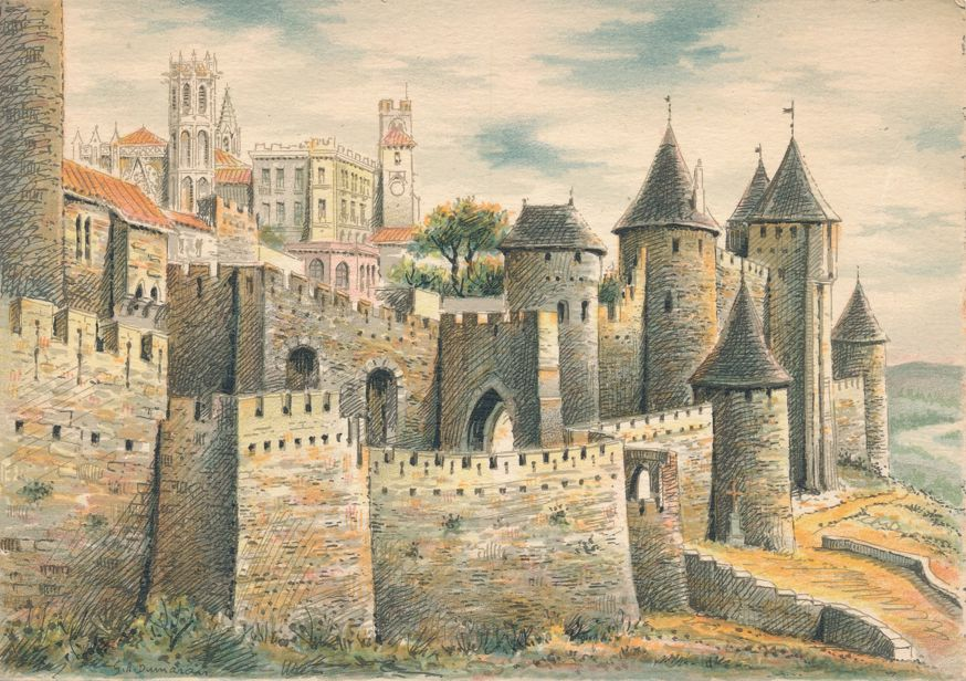 Citadel and Castle at Carcassonne, Aude, France