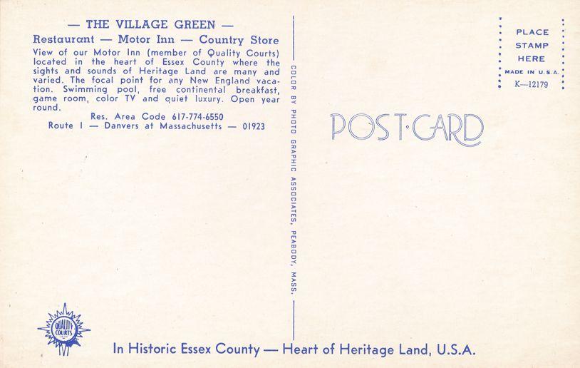 Danvers, Massachusetts - Village Green Motel and Restaurant