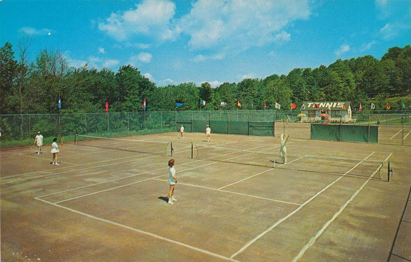 Kiamesha Lake, New York - Tennis at Concord Hotel - Former Catskill Resort