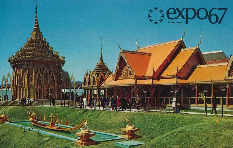Expo67 - Montreal, Quebec, Canada - World Fair 1967 - Pavilion of Thailand