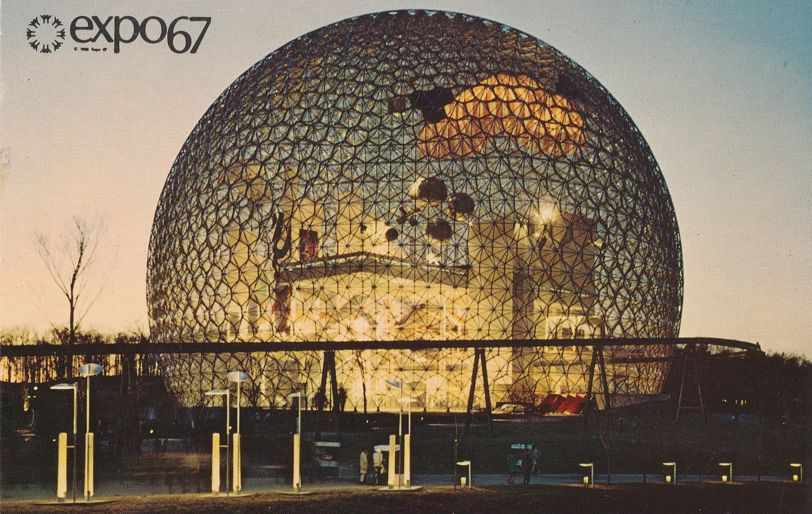 Expo67 - Montreal, Quebec, Canada - World Fair 1967 - U.S. Skybreak Bubble