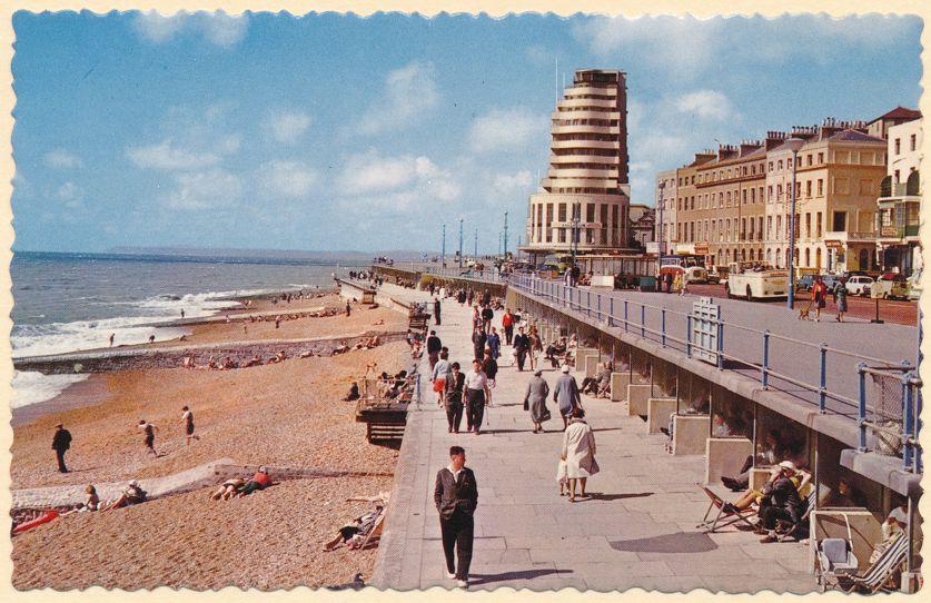 Sun Terrace and Marine Court - Saint Leonards-on-Sea, United Kingdom - pm 1965 at July