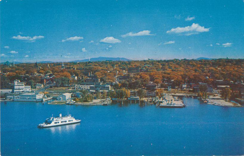 M.V. Adirondack Ferry on Lake Champlain near Burlington, Vermont