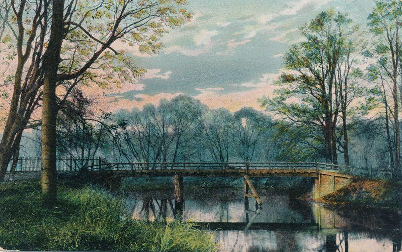 Scenic Bridge - Probably in Germany - Undivided Back