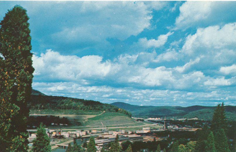 Bradford, Pennsylvania - Bird's Eye View of Industrial Area
