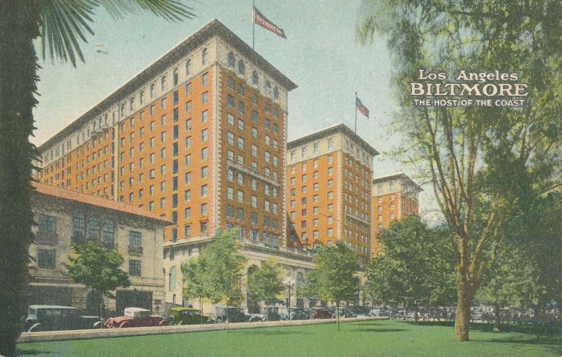 Los Angeles, California - Biltmore Hotel - Host of the Coast - Divided Back