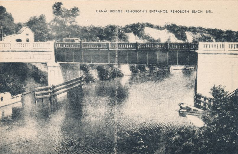 Rehoboth Beach, Delaware - Canal Bridge at Rehoboth Entrance