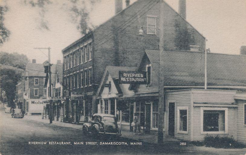 Riverview Restaurant on Main Street - Damariscotta, Maine