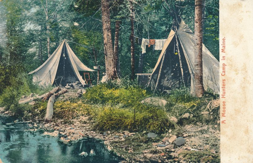 Moose Hunters Camp in Maine - Undivided Back