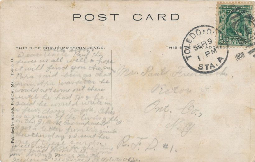 Toledo, Ohio - Living Flag - 3000 Children at G.A.R. Encampment - pm 1908 - Divided Back