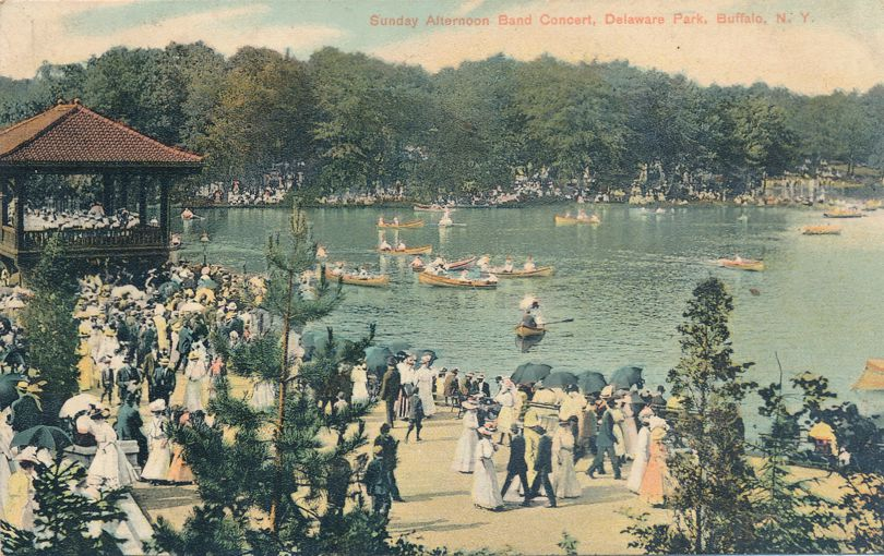 Buffalo, New York - Sunday Afternoon Conceret at Delaware Park - pm 1910 at Franklinville NY - Divided Back