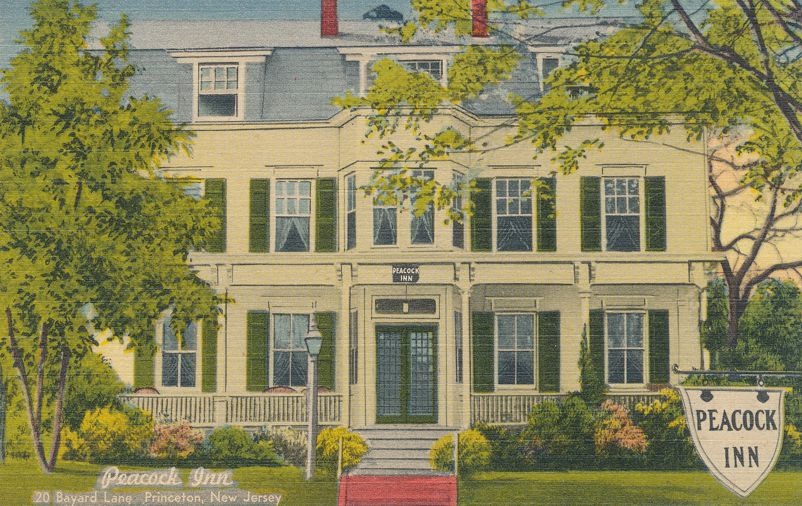 Princeton, New Jersey - Peacock Inn and Hotel - Linen Card