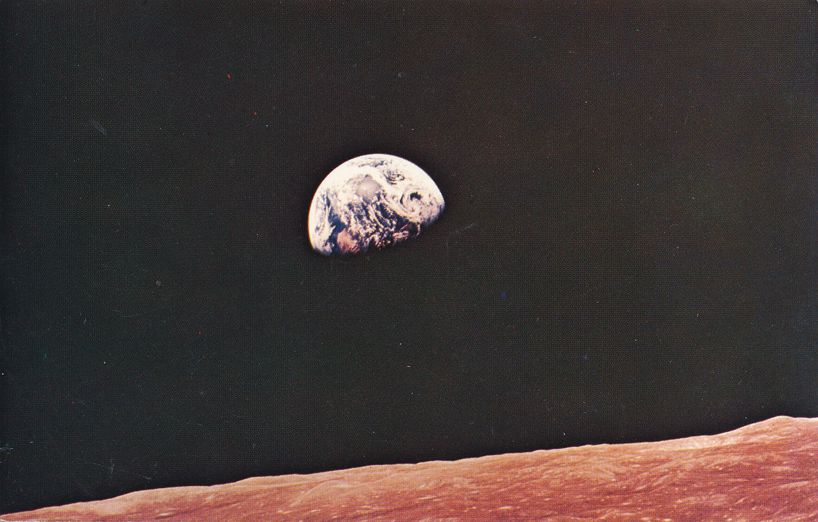 Earth from Apollo 8 in 1968 - Kennedy Space Center, Florida
