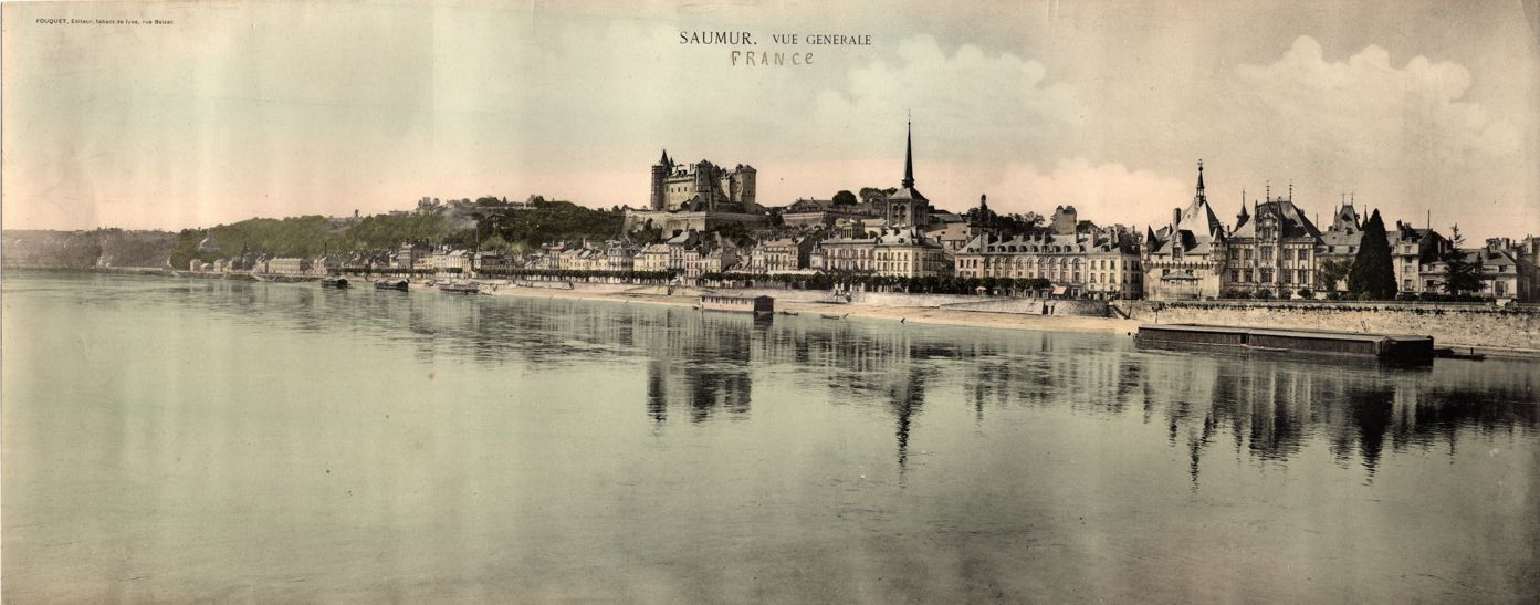 Saumur, France - Panoramic General View - Photograph 23 x 8 inches