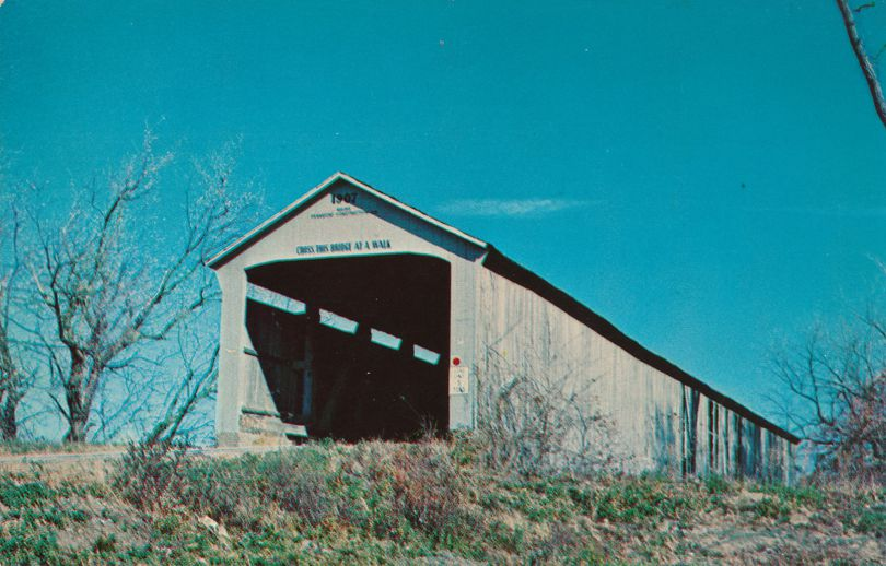 Adams, Indiana - Covered Bridge over Little Raccoon Creek - Parke County