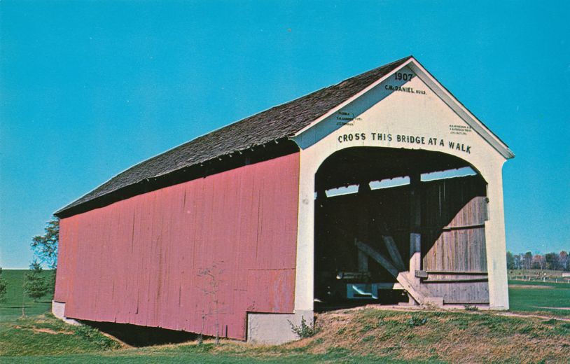Caitlin, Indiana Covered Bridge - Moved to Rockville area Golf Course