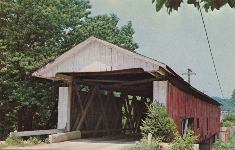 North Manchester, Wabash County, Indiana - Covered Bridge over Eel River