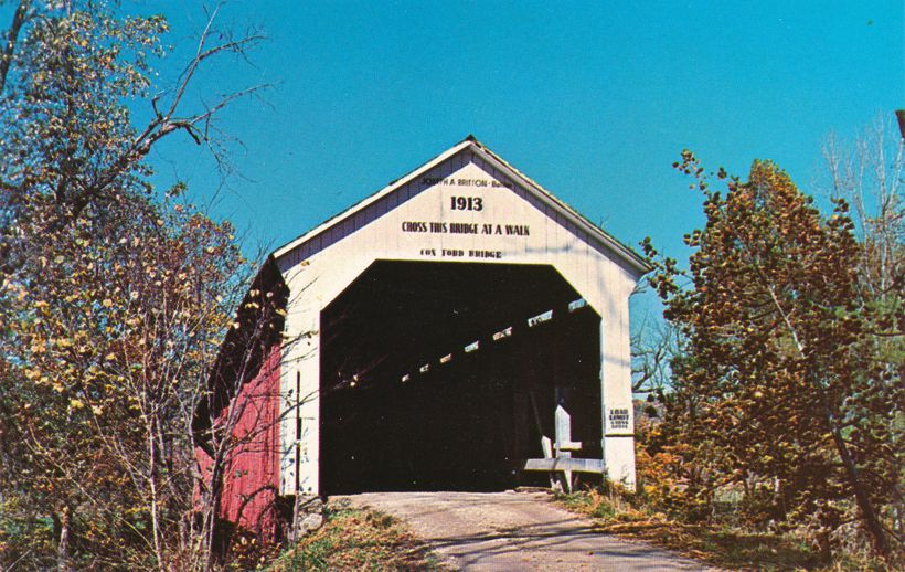 Turkey Run Park, Indiana - Cox Ford Covered Bridge - Parke County