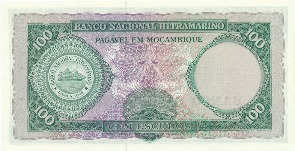 Mozambique - Paper Money - 100 Escudos - 1961