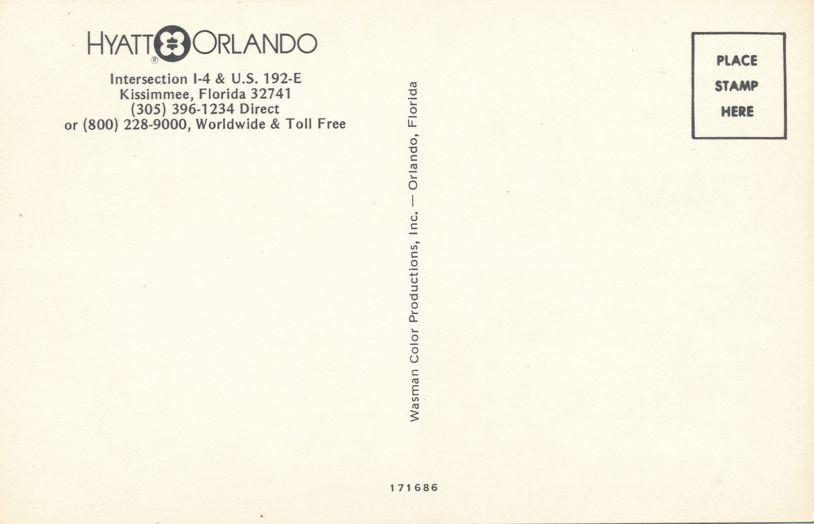 Kissimmee, Florida - Hyatt Orlando Hotel