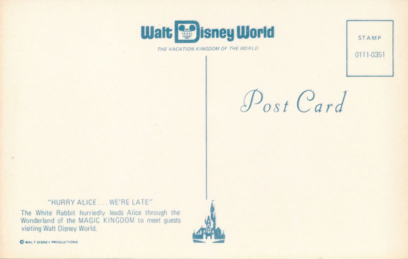 Orlando, Florida - Walt Disney World - Alice and the White Rabbit