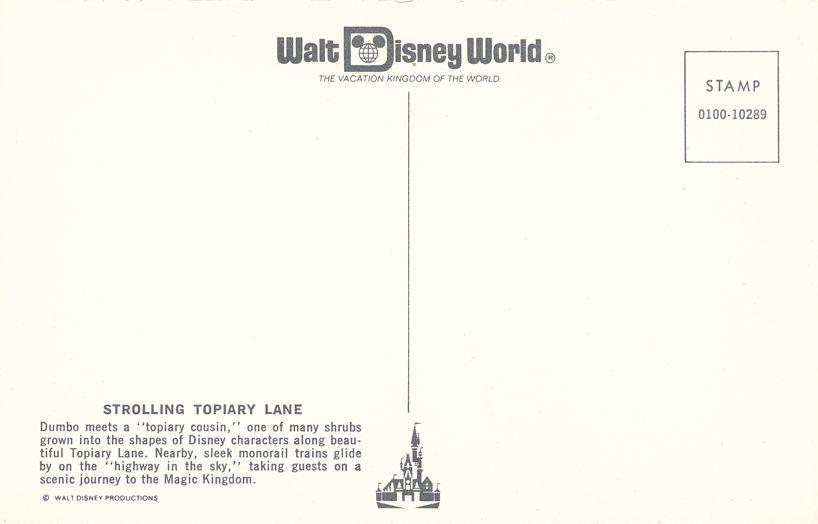 Orlando, Florida - Walt Disney World - Topiary Dumbo near Monorail