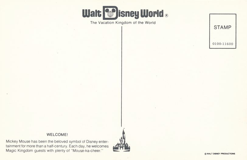 Orlando, Florida - Walt Disney World - Welcome from Mickey Mouse