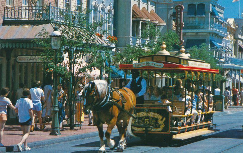 Orlando, Florida - Walt Disney World - Trolley Ride Down Main Street
