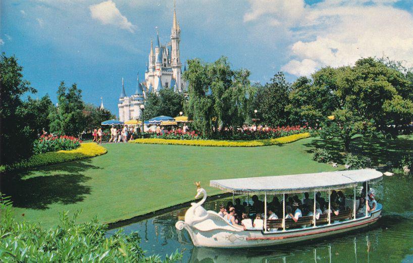 Orlando, Florida - Walt Disney World - Swan Boats along Plaza Canal